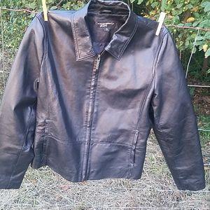 Ladies Leather Jacket by Black Rivet